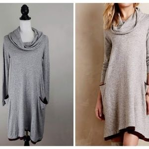 Anthropologie, Sparrow Grey Cowl Neck Sweater Dres